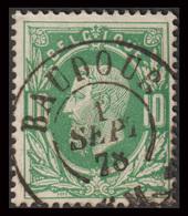 """COB N°30 - Obl. """"CONCOURS"""" D.C. BAUDOUR - 1869-1883 Leopold II."""