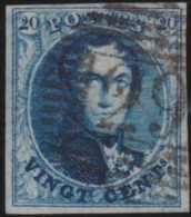 Belgie    .    OBP        .     4A  (2 Scans)     .         O      .      Gebruikt   .    /    .   Oblitéré - 1849-1850 Medaillen (3/5)