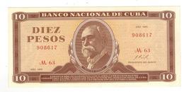 Cuba 10 Pesos 1970, AUNC/UNC. - Cuba