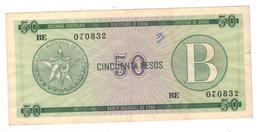 Cuba 50 Pesos FX 10, Used, See Scan. - Cuba