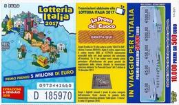BIGLIETTO  LOTTERIA  ITALIA  2017 - Estrazione  6 Gennaio 2018. - Billets De Loterie