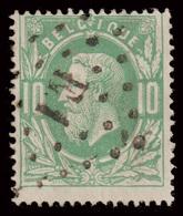 COB N°30 - Belle Oblitération - Ambulant E1 - BRUXELLES-VERVIERS - 1869-1883 Leopold II.