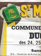 -Affiche Tabac St.Michel-Commune D'ESTAMPUIS,Ducasse Des 24,25,26/08/1968-Jeu De Boules/ - Affiches