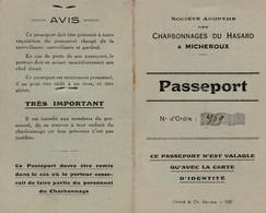 Passeport D'entrée De 1941 Au Charbonnage Du Hasard à Micheroux ( Soumagne ) - Soumagne