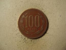 MONNAIE CHILI 100 PESOS 1987 - Chile