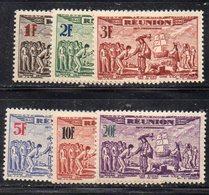 APR3012 - REUNION 1943 , Posta Aerea  Yvert N. 18/23  */* (2380A) - Réunion (1852-1975)