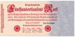 GERMANIA  500000 MARK 1923 P-92  UNC  UNIFACE - 1918-1933: Weimarer Republik