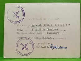 Luxembourg, Oberkorn 1941. - 1940-1944 Occupation Allemande
