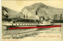 """SUISSE - Auf Dem Thuner See- Bateau à Aubes Le """"BUBENBEG"""" - BE Berne"""