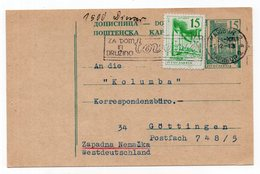 1963 YUGOSLAVIA,SLOVENIA,MARIBOR TO GERMANY, FLAM:FOR HOME AND FAMILY,STATIONERY CARD,USED - Postal Stationery