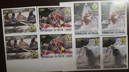 O) 1988 NIGER, IMPERFORATE, SUMMER OLYMPIC SEOUL. PIERRE DE COUBERTIN, SPORTS - KAYAK - CREW RACING - TWO MAN KAYAK - S - Niger (1960-...)