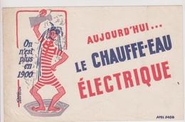 """Buvard """" Le Chauffe -eau électrique """". Illustré Par Jean Colin. - Electricité & Gaz"""
