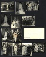 Conjunto De Provas Fotograficas De Casamento Dum MILITAR E Cartão Visita De FREDERICO VAN ZELLER Vila Nova De Gaia - Anciennes (Av. 1900)