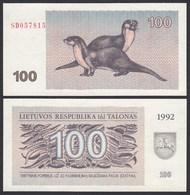 Litauen - Lithunia 100 Talonas Banknote UNC 1992 Pick 42    (25466 - Lituania