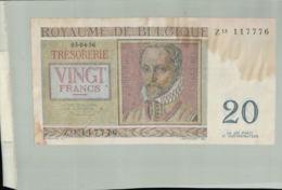 BILLET Banque ROYAUME DE BELGIQUE 20 FRANCS  -Janv 2020  Clas Gera - [ 2] 1831-... : Reino De Bélgica