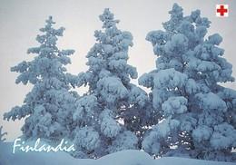 Postal Stationery - Winter Landscape - Scene - Red Cross 2002 - Finlandia - Suomi Finland - Postage Paid - RARE - Finlandia