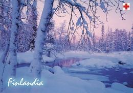 Postal Stationery - Winter Landscape - Scene - Red Cross 2002 - Finlandia - Suomi Finland - Postage Paid - RARE - Finlande