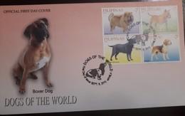 O) 2010 PHILIPPINES, DOG OF THE WORLD - CHOW CHOW - BULLT - RETRIEVER - BEAGLE, FDC XF - Philippines