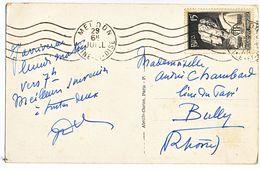 SEINE ET OISE CP 1949 MEUDON OMEC SUR N°845 SEUL SUR CP - Poststempel (Briefe)