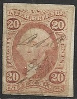 US 1862  Sc#R42a 20c Inland Exchange Imperf  Used On Piece 2016 Scott Value $17 - Revenues