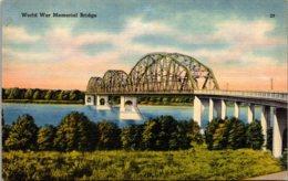 North Dakota World War Memorial Bridge Between Bismarck And Mandan - Bismark