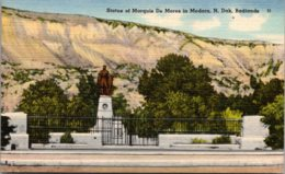 North Dakota Badlands Medora Marquis De Mores Statue - Autres