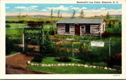 North Dakota Bismarck Roosevelt's Log Cabin Curteich - Bismark