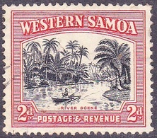 SAMOA 1935 KGV 2d Black & Orange SG182 Used - Samoa