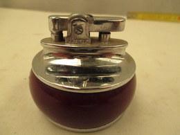 Briquet A Essence  De Bureau Olympic - Diametre  5 Cm - Hauteur 5 Cm   Pas D'essence - Briquets