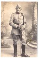 Photographie Sur Carton - Soldat 4ème Régiment D'Artillerie - Basé à Besançon (25) & Remiremont (88) - Photo Mildner - Krieg, Militär