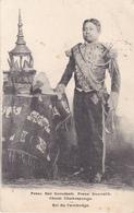 CAMBODGE  LE ROI  PREAS BAT SOMDACH. PREAS SISOVATH. CHOM CHAKREPONGS CPA  CIRCULEE - Cambodia