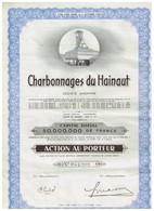 Titre Ancien - Charbonnages Du Hainaut - Société Anomyme - Titre De 1946 - Mines