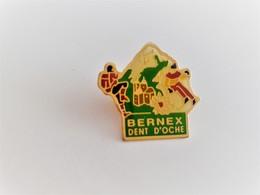 PINS  SPORTS SKI ET ESCALADE BERNEX DENT D'OCHE 74 HAUTE SAVOIE / Signé C.C.C.  / Base Dorée / 33NAT - Wintersport
