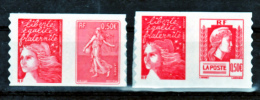 France   36 P 43 P Marianne De Carnet  Neuf ** TB MNH Sin Charnela Faciale 3.56 - Autoadesivi