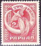 PAPUA 1932 KGV 2d Red SG133 MH - Papua New Guinea