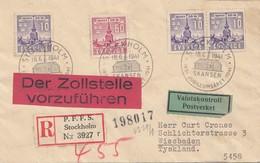 Schweden: 1941: Stockholm Nach Wiesbaden, Einschreiben, Zollstelle Vorführen - Unclassified