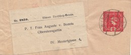 Österreich: 1917: Streifband Ganzsache - 1918-1945 1ère République