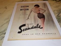 ANCIENNE  PUBLICITE COTON NYLON SCANDALE  1958 - Autres
