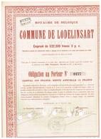 Titre Ancien - Royaume De Belgique - Commune De Lodelinsart - Obligation De 1895 - Actions & Titres