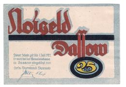 Deutschland Notgeld 25 Pfennig Mehl260.1 DASSOW /82M/ - Lokale Ausgaben