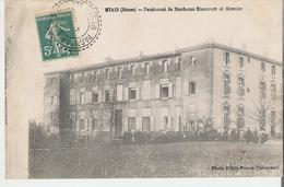 ETAIN. CP Voyagée Pensionnat De Mesdames Riaucourt Et Meunier (carte Mal Massicotée Voir Scan) - Etain