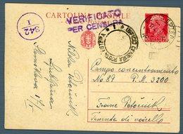 °°° Cartolina Postale - Da Cent. 75 Diretta Al Campo Concentramento N. 89 Viaggiata °°° - Jugoslawische Bes.: Triest