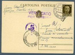 °°° Cartolina Postale - Da Cent. 30 Diretta Al Campo Concentramento N. 89 Annullo Lubiana Viaggiata °°° - Jugoslawische Bes.: Triest