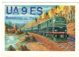 QSL Card Russia Sverdlovsk Op. Plotnikov 2 Scans - Russia