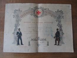 CROIX ROUGE FRANCAISE SOCIETE FRANCAISE DE SECOURS AUX BLESSES MILITAIRES COMITE LE NOUVION EN THIERACHE 15 AVRIL 1913 D - Documents