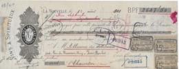 """Traite """"Vins Et Spiritueux Enée CROUZAT, Port La Nouvelle"""", Du 12/08/1901 Avec Timbres Fiscaux. - Alimentaire"""