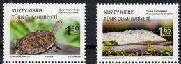 TURKISH CYPRUS, 2018, MNH, REPTILES, LIZARDS, TURTLES, 2v - Schildkröten