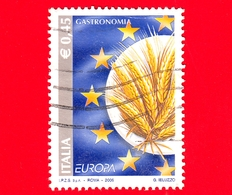 ITALIA - Usato - 2005 -  Europa - 50ª Emissione - Spighe Di Grano - 0,45 - 6. 1946-.. Repubblica