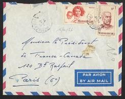 Madagascar-Enveloppe Avec Cachet Convoyeur - Madagascar (1889-1960)