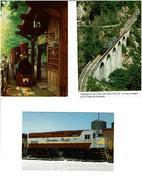 TRAINS / Lot De 45 Cartes Postales Modernes Neuves - Cartes Postales